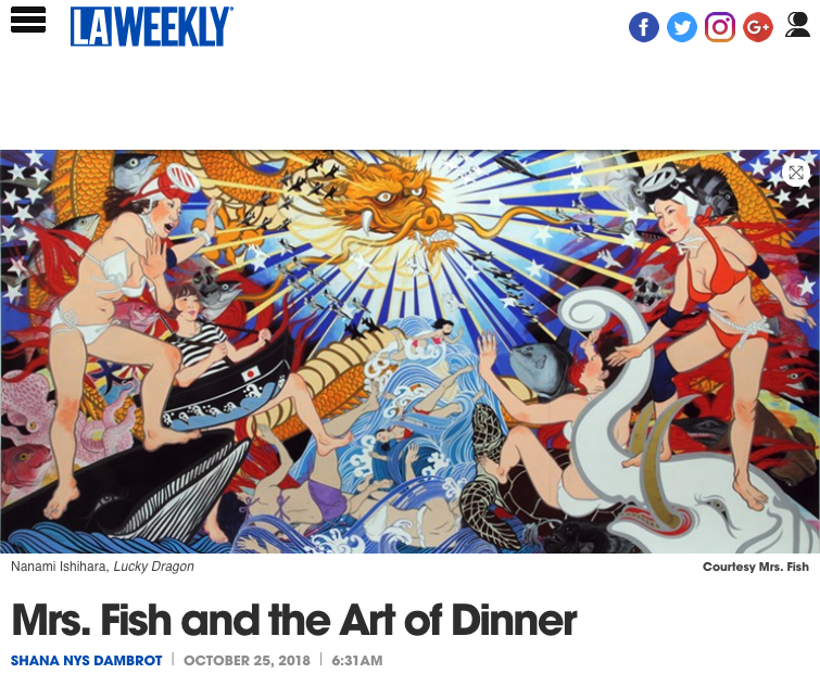 Mrs. Fish and theArt of Dinner -