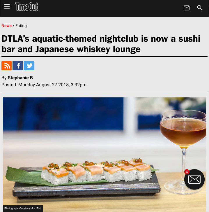 TimeOut LA DTLA's aquatic-themed nightclub is now a sushi bar and Japanese whiskey lounge -