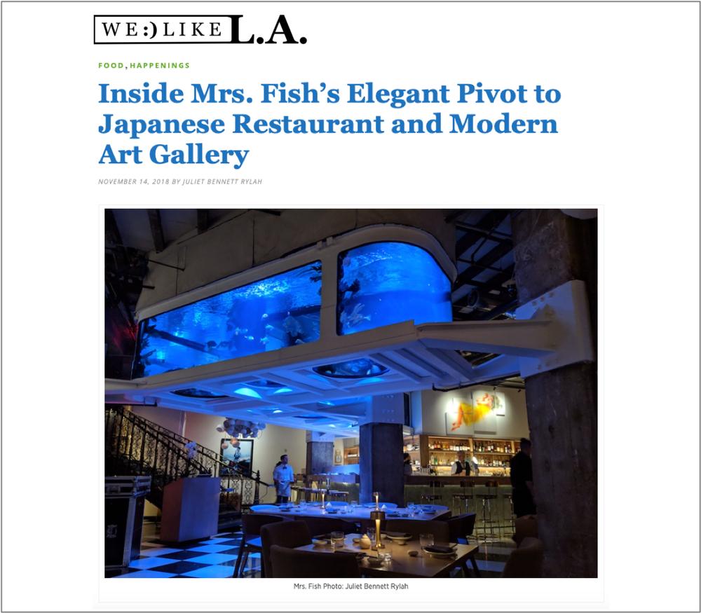 Inside Mrs. Fish's Elegant Pivot to Japanese Restaurant and Modern Art Gallery -