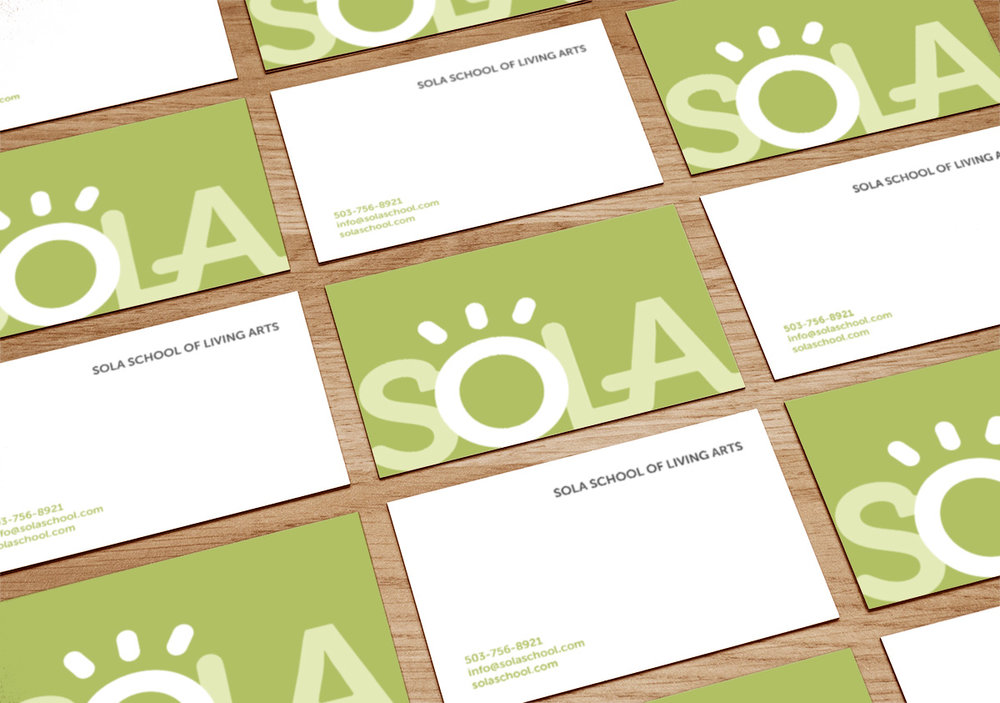 Business cards use sans-serif type to create a bold and modern look. -