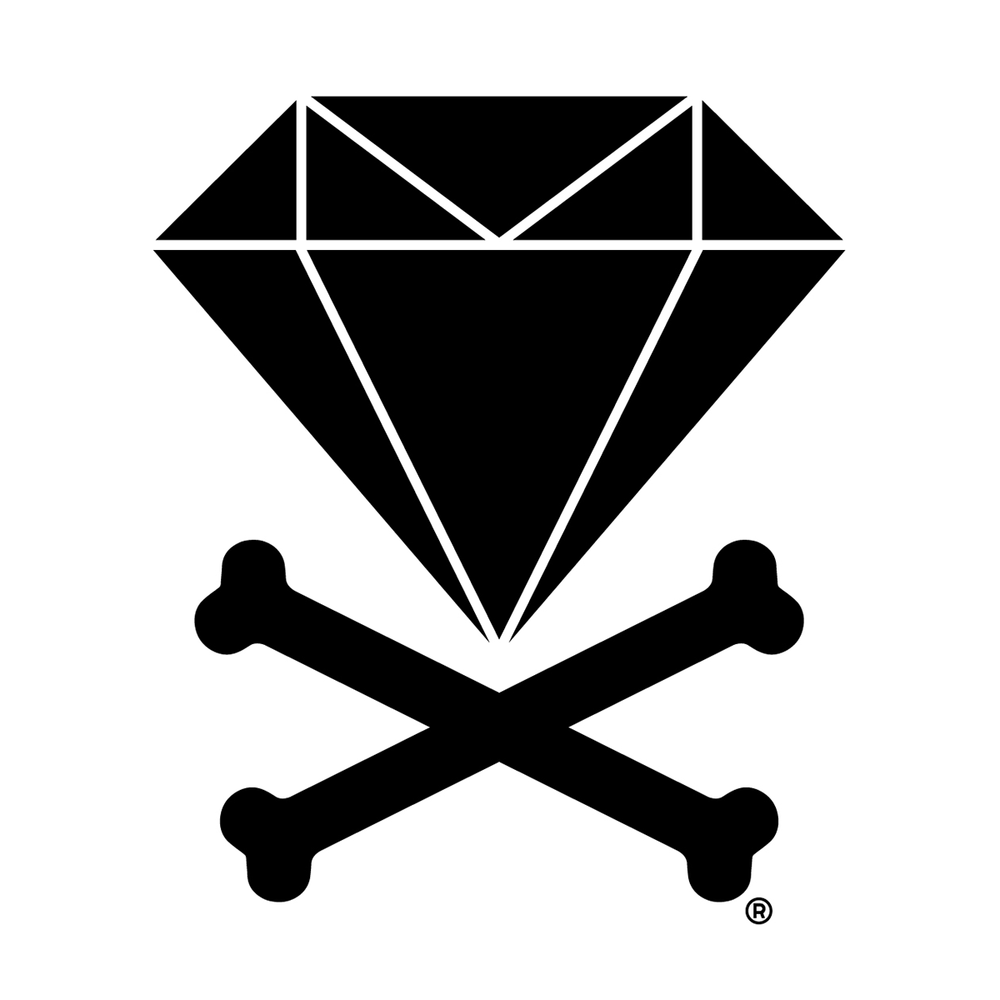 LOGO - My Dad was in the Jewelry business for 30 years. From an early age I saw the hardships he had to go through to support our family. Naturally in my mind a Diamond and Crossbones appeared as a symbol of having to do anything it takes to get your Diamonds in life.