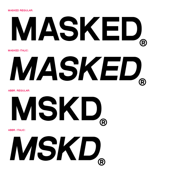 TYPOGRAPHY - Custom straight forward fixed width font. Sans Seriff base.