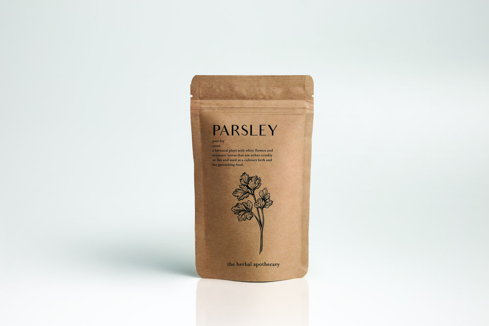 Parsley pre-packaged herb pouch