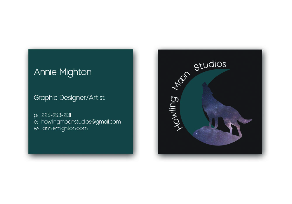 Howling Moon Studios Business Cards