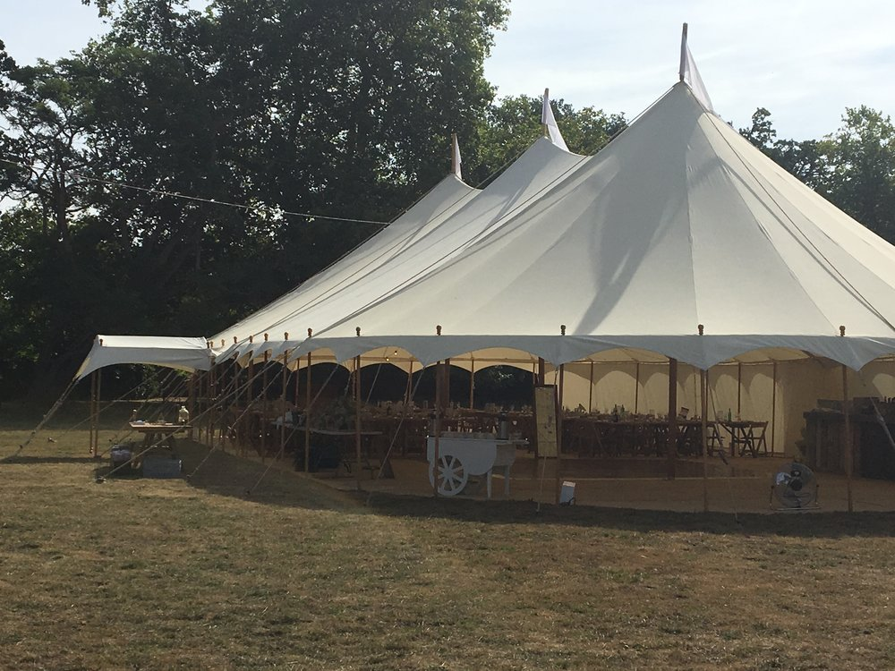 We have the ability to remove all the marquee walls to create a truly open feel.