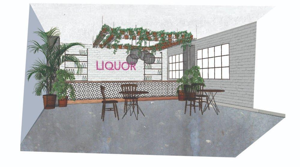Bar Design and Concept - 3D illustration