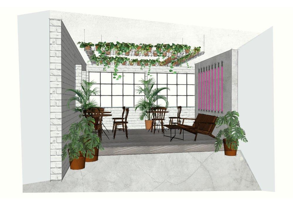 Platform Design and Concept - 3D illustration