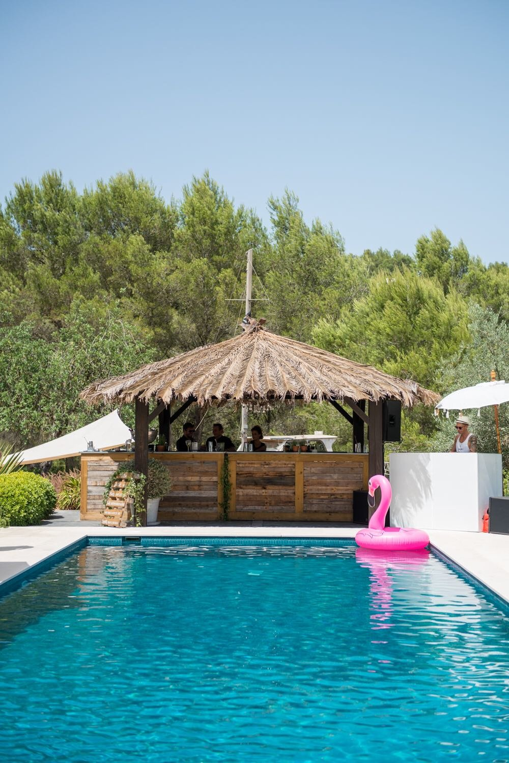 pool party, ibiza event, obi and the island