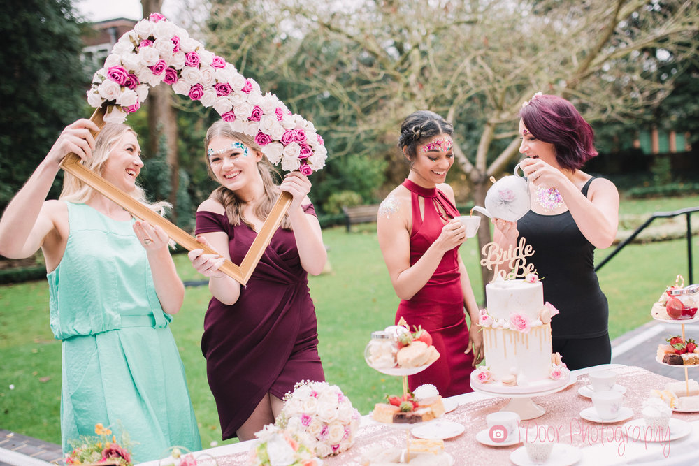 Flowers by Louisa at Louisa Jane Florist, Cake by Jo Harper Cake Company, Makeup by Mel Miller, Makeup & Glitter by Toni Cassidy at Glamavan, Hair by Emma J Hair Styling, Afternoon Tea by Carly's Afternoon Tea