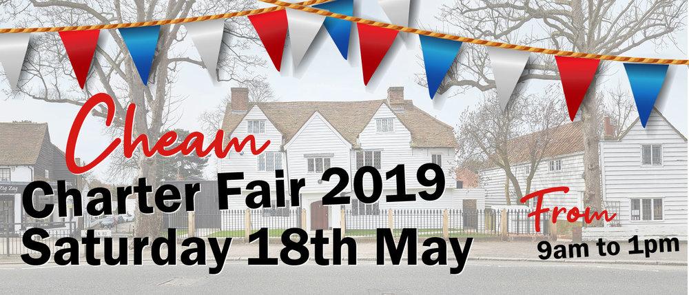 CHEAM CHARTER FAIR 2019 - Saturday 18th May 2019, 9am - 1pm