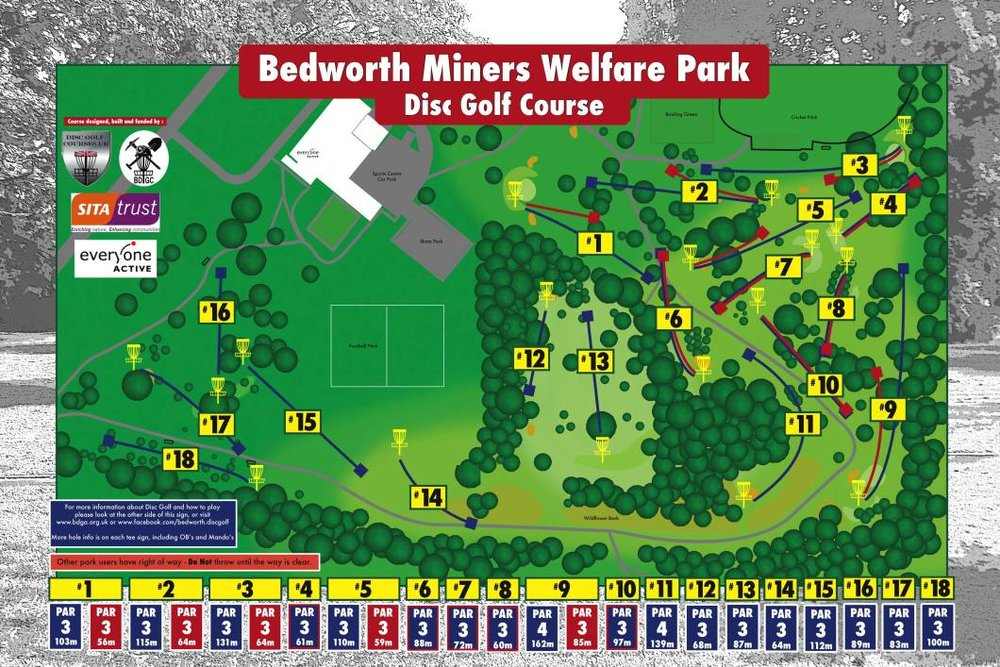 Bedworth Disc Golf Club Course Map