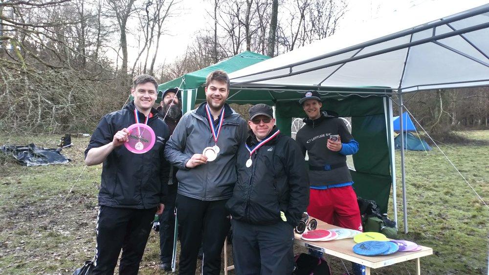 Novice Winners: Kevin Pawley, Dominic Hudson & Ross Davies