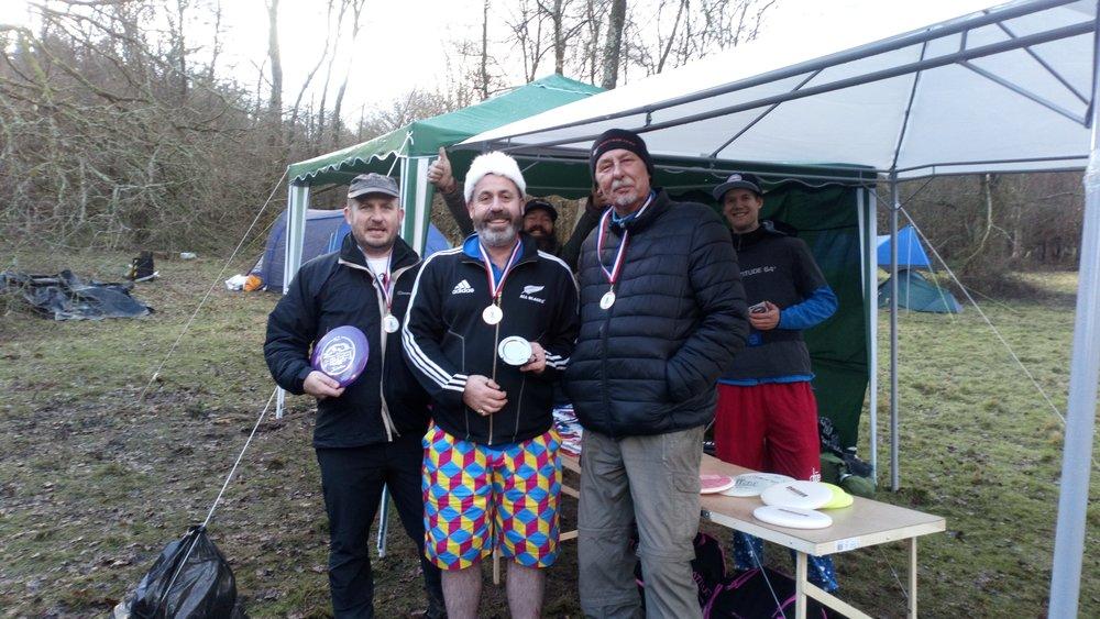 Mixed Amateurs 40+ Winners: William Woodward, Craig French and Marek Nowak
