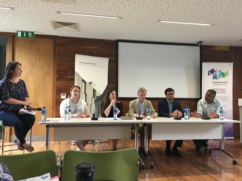 Ethics in Research an Innovation, panel discussion, ADAPT Research Centre 2018 - Dublin, Trinity College