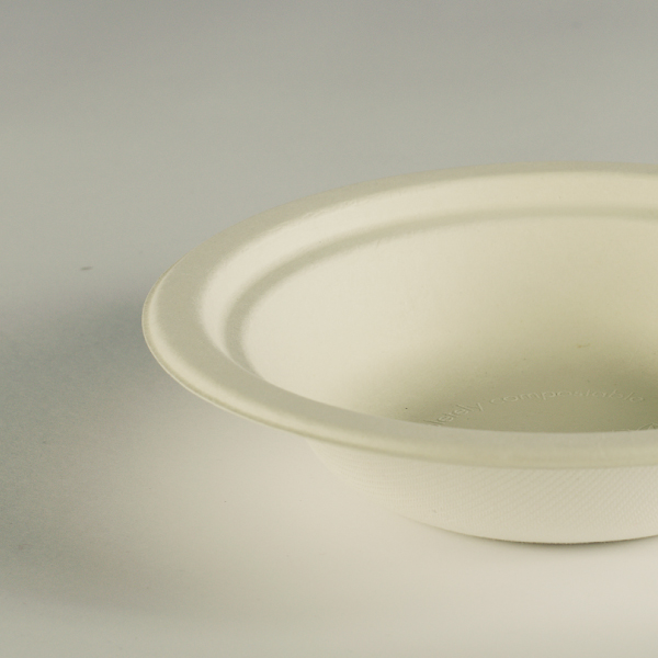 Bowl redondo blanco de bagazo 12oz (950ml).