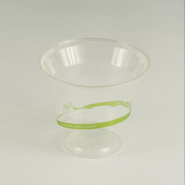 Vaso pequeño transparente de PLA 5oz (140ml).