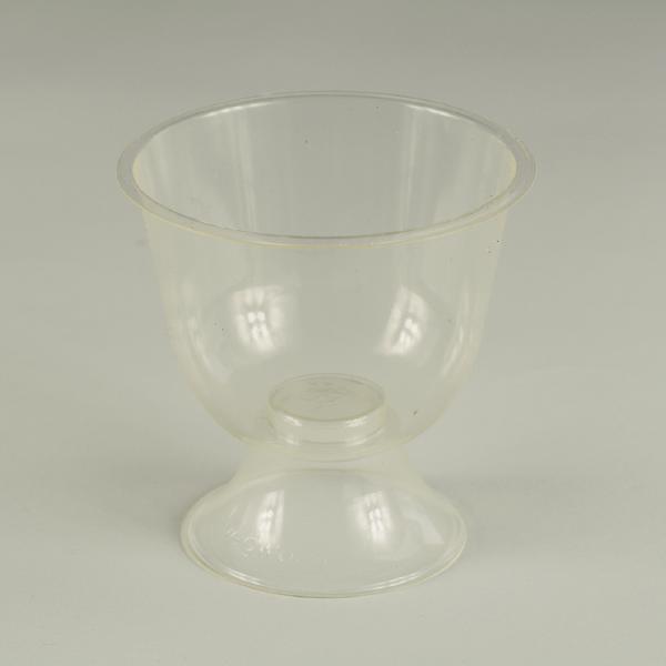 Copa transparente de PLA para degustaciones 6oz (175ml/ Viene desarmada_2 piezas).