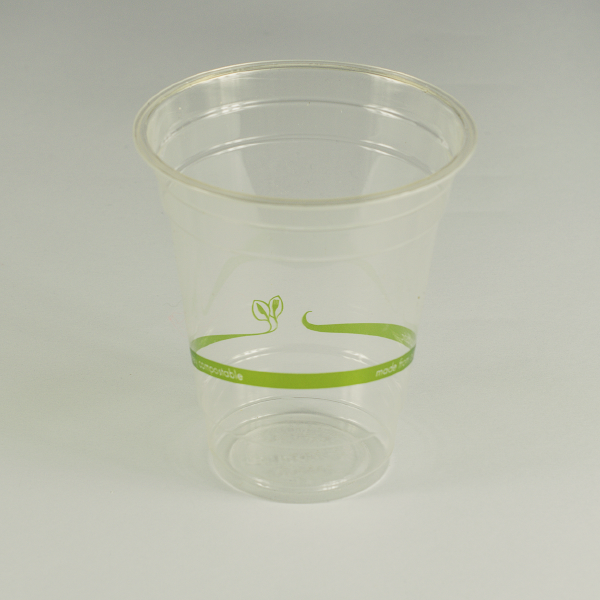 Vaso estándar transparente de PLA 12oz (350ml).
