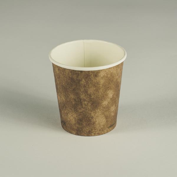 Vaso marrón cartón kraft 4oz (120ml).