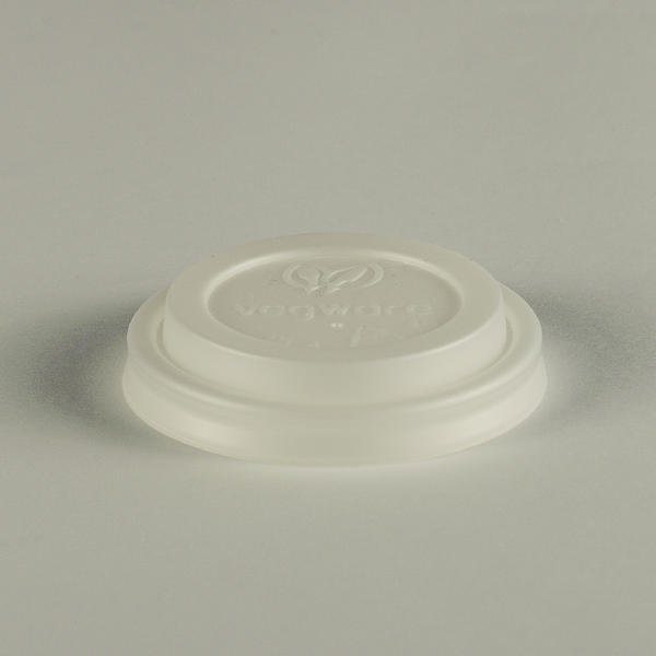 Tapa blanca de CPLA para bebidas clientes, encaja en vasos de 4oz (120ml).