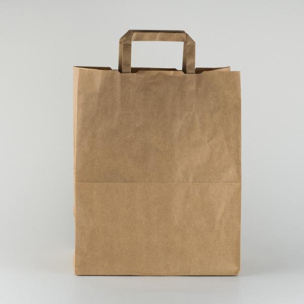 Bolsa transporte papel reciclado grande, ancho 10in, volumen 11,6L (250).