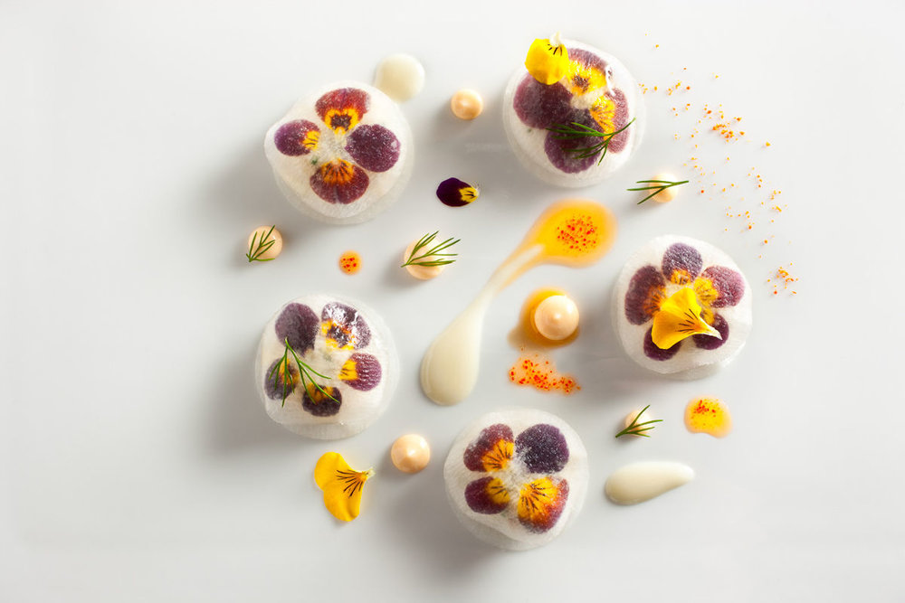 Peekytoe-Crab-with-Pickled-Daikon-Radish-and-Violas-prepared-by-Daniel-Humm-Executive-Chef-of-Eleven-Madison-Park-in-NYC..jpg
