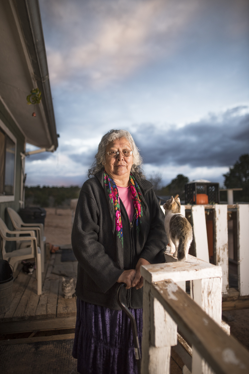 Betty Lou Nez liveson Navajo Mountain and needs clean water. - Watch the film.
