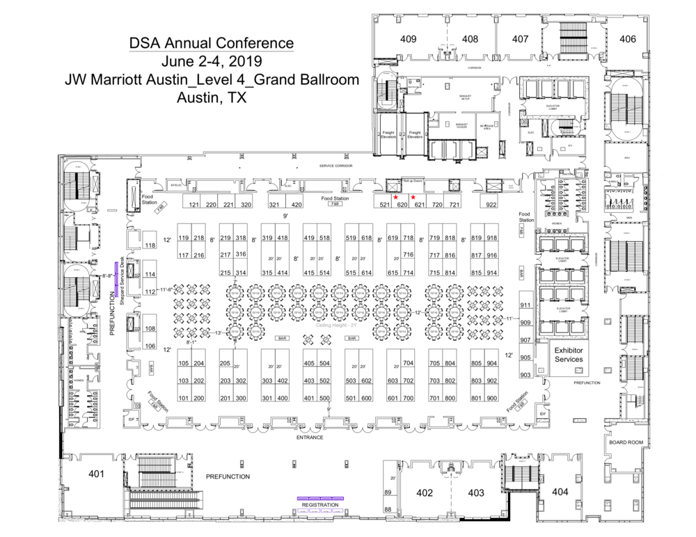 DSA Annual Meeting Hall Layout