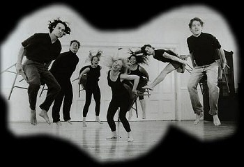 (L to R) Paul Witter, Bob Walsh, Katie Bull, Leslie Kincaid, Paris Reily, David Brick, Andy Buck in LUDUS: LET US PLAY, at the Washington Square Church