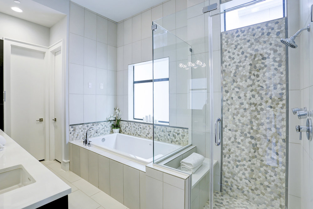 Frameless Shower, Mutiple Shower Heads & incredible attention to detail.jpg