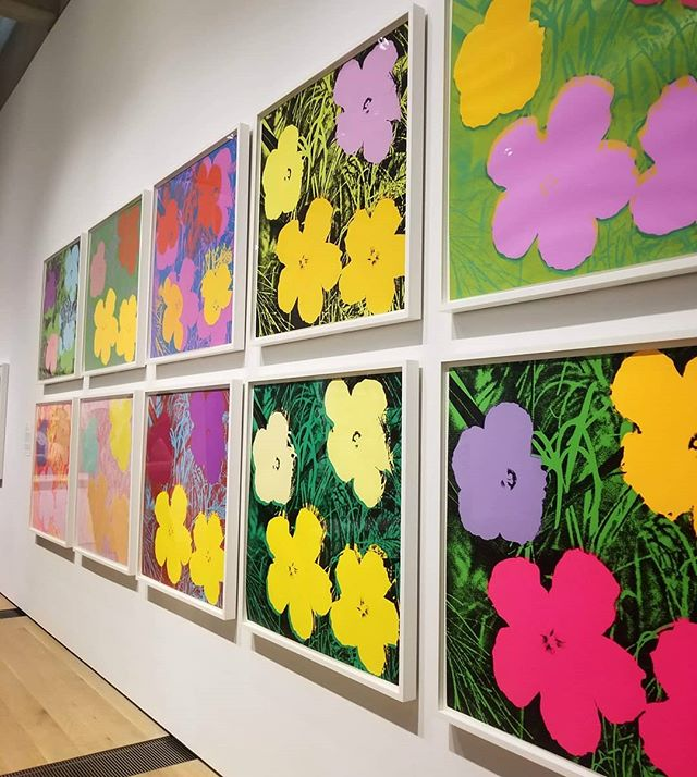 Some Warhol to warm you up on this snowy Friday 🌸🌺 Loved this American Prints Exhibition at the truly wonderful Saint Louis Art Museum. TGIF!  #andywarhol #modernart