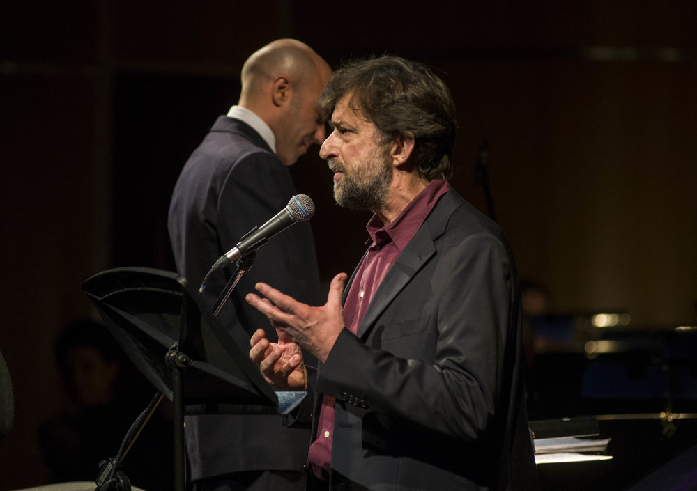 Concerto Moretti - the director Nanni Moretti during the performance