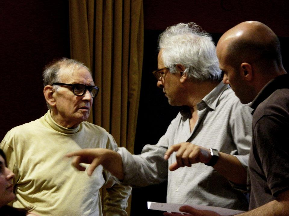 During the rehearsals with Franco Piersanti and the Oscar winner Ennio Morricone