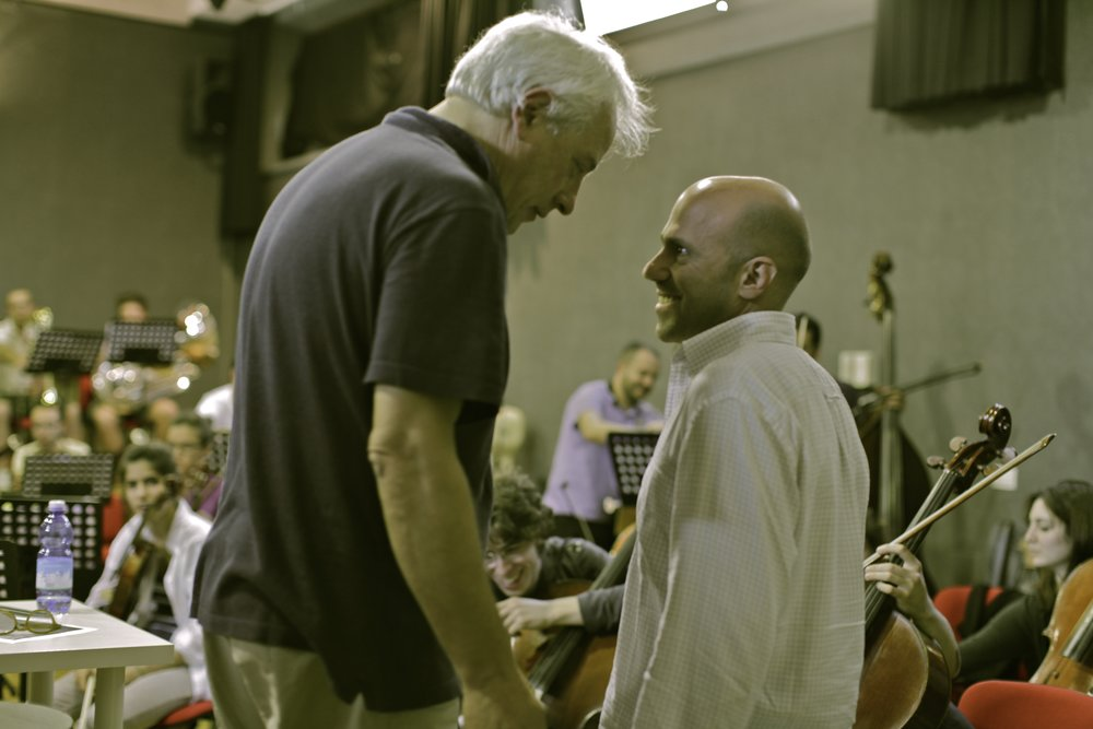 With the Great Composer Franco Piersanti during rehearsals
