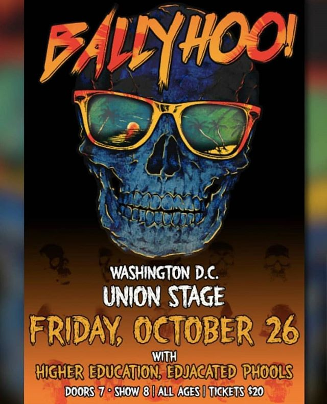 24 hour ticket giveaway! Here's your chance to win a pair of tickets to see us play with @ballyhoorocks and @highereduband at @unionstage  this Friday night in Washington, DC! To enter, just comment on this post and tag 3 friends you'd like to bring along, and make sure you're following our band page! Winner announced Friday 10/26 at noon EST. #concerttickets #giveawaycontest #livemusic #dcnightlife