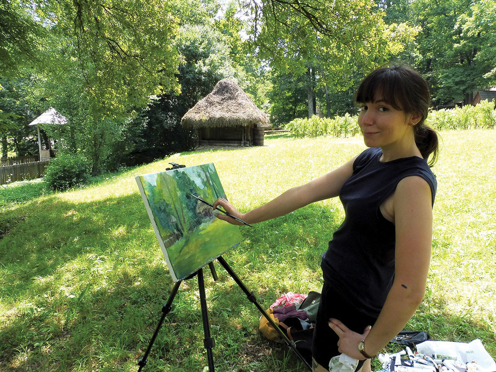 Painting at the ASTRA museum in Sibiu, Romania