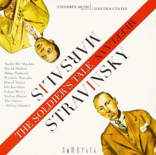 "The New York Times - ""Interestingly, jazz made direct contact with Friday's concert, first in the playing by Winton [sic] Marsalis and David Taylor of the trumpet and trombone parts, and then in Mr. Marsalis's gloss on the Stravinsky piece called A Fiddler's Tale.. Stravinsky gives both brass players very difficult parts, and they realized them here with splendid articulation and gorgeous sound. Indeed, so beautiful were the timbres, so rich and quivering, that at times Stravinsky might not have recognized his own piece.""— Bernard Holland"