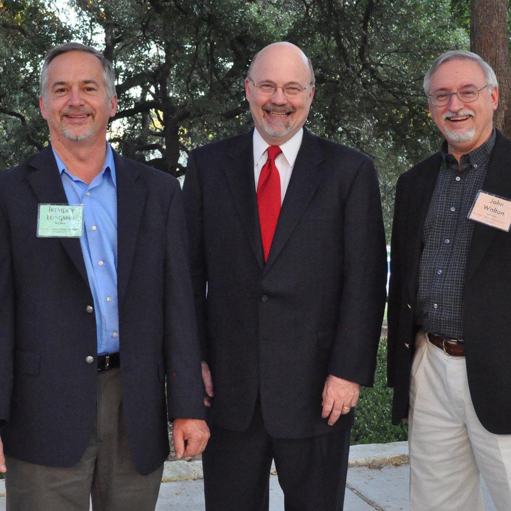 Tremper Longman, Larry Linenschmidt, and John Walton.jpg