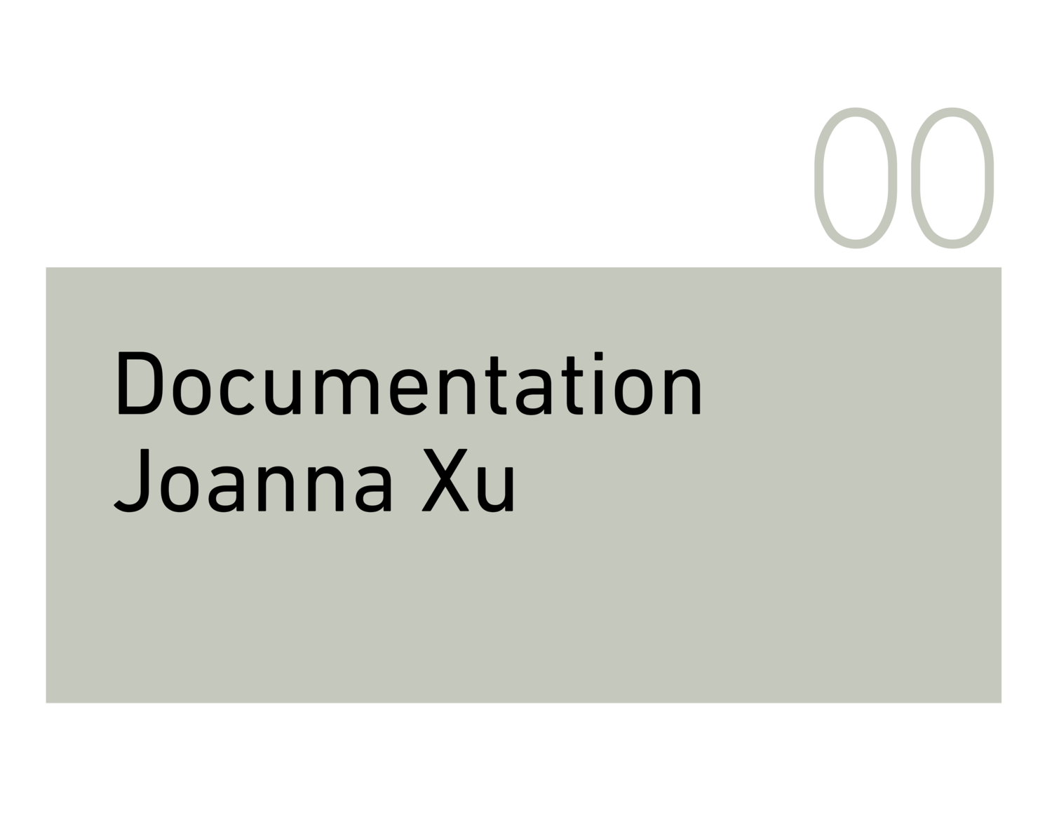 Documentation Joanna Xu