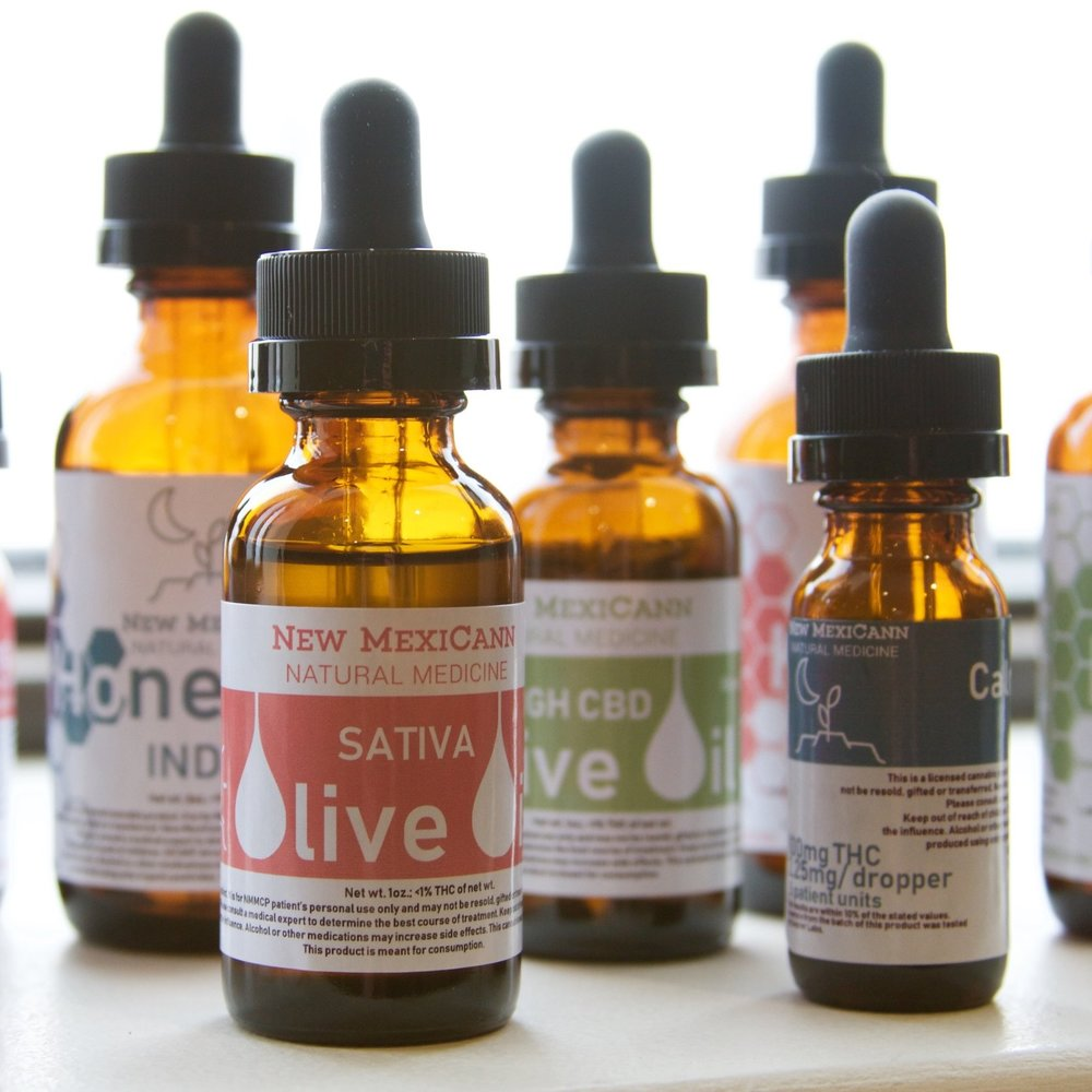 TINCTURES - New MexiCann tinctures provide a holistic, discreet and flexible option for those needing strong pain and anti-inflammatory relief. Our tinctures can be taken under the tongue (sublingually), swallowed, or added to your favorite drink for a micro-dosed boost. All of our formulas are free of artificial colors, flavors, and preservatives.