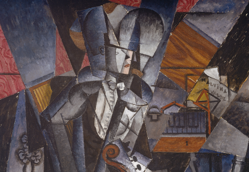 "Portion of ""The Musician,"" by Louis Marcoussis"