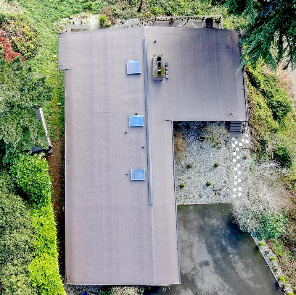 Low Slope Residential Reroof, Edgewood, Washington