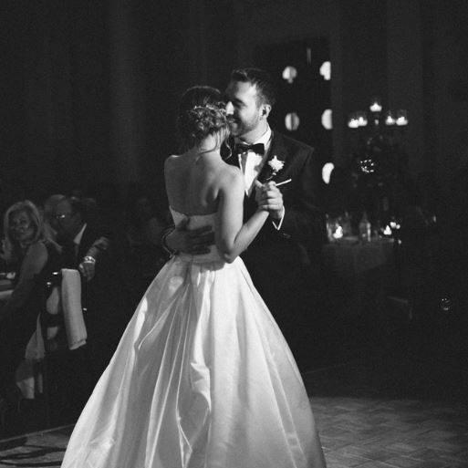 couple's first dance at a wedding