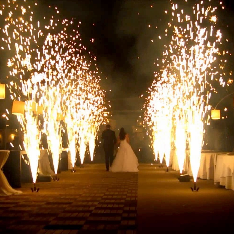07—FIREWORKS - Indoor and outdoor firework fountains will sit like a cherry on top of a cake. No need to hire ten guys for different services. An experienced party professional can take care of all the aspects of your celebration, fireworks included.