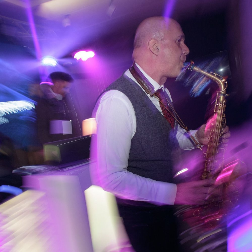 party with sax player