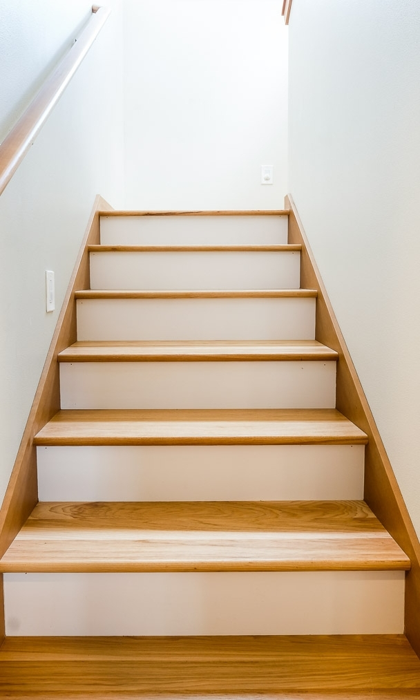 Wood Steps with Painted Risers