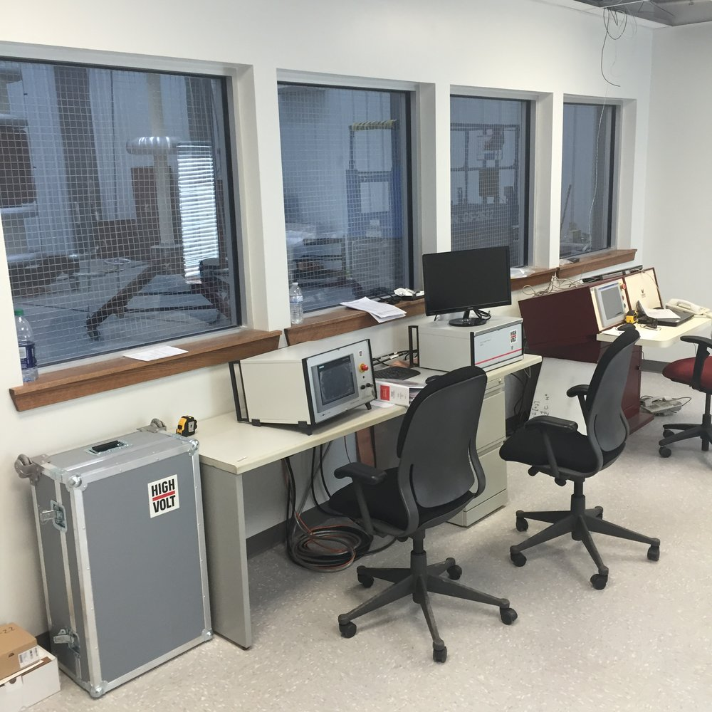 Test lab control room