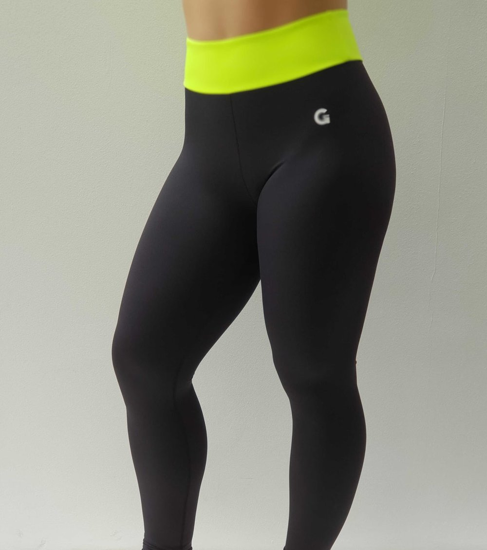 GRRRL - Neon Yellow Next Level Leggings $40 (large range of sizes)