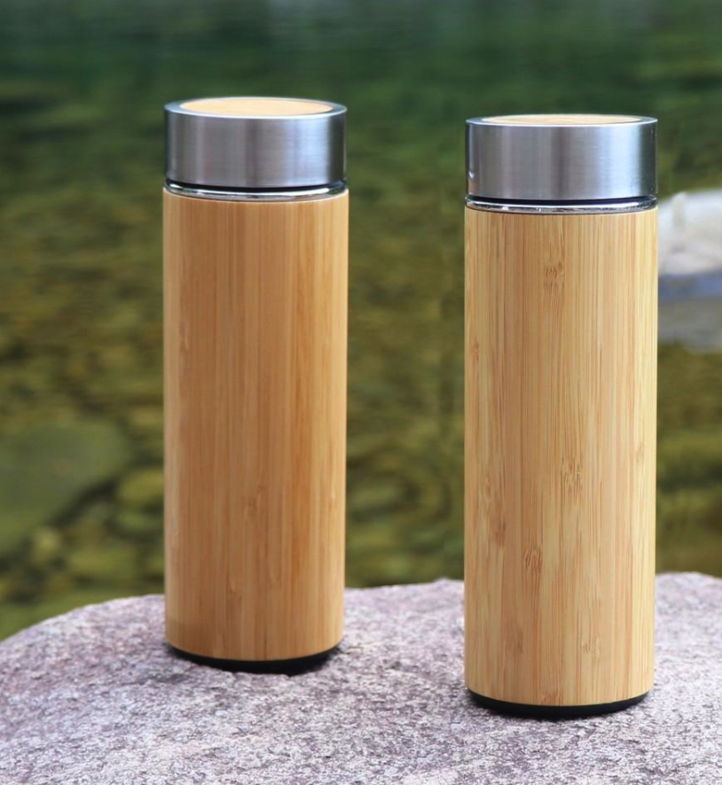 Live In Nature Bamboo + Stainless Steel Thermal Bottle -