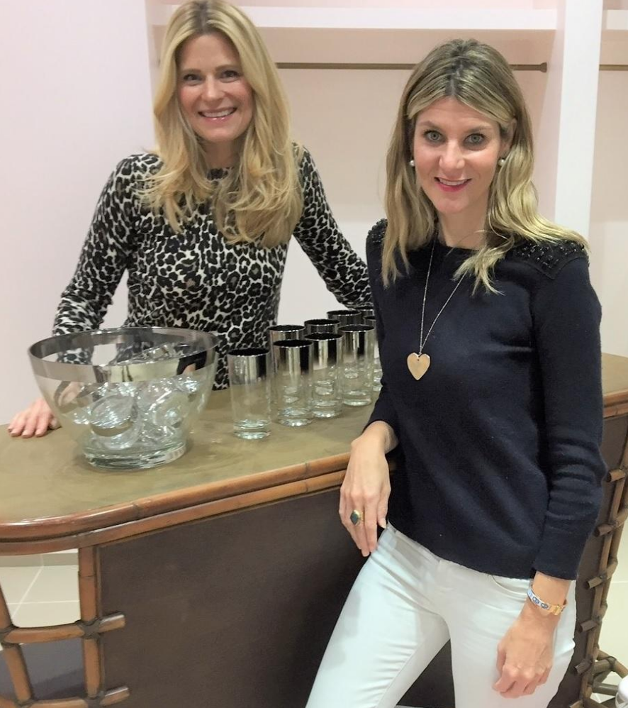 Launch pad co-owners nicole munder, left, and katherine lande in their shop at the esplanade on worth avenue. [Photo by john Nelander]